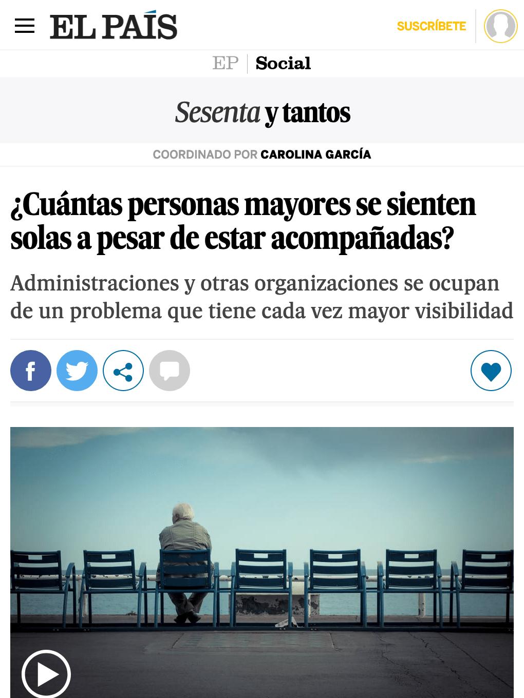 ¿Cuántas personas mayores se sienten solas a pesar de estar acompañadas?