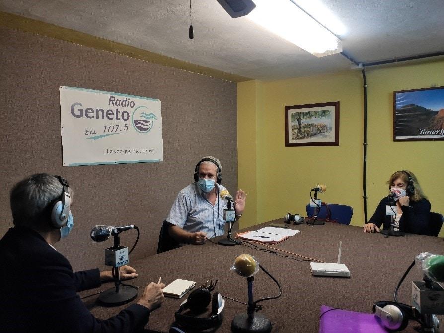 Representantes de LMV visitan la sede de Radio Geneto